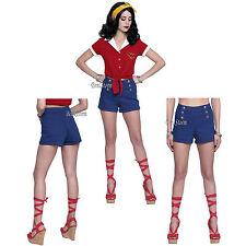 DC Comics Bombshells Retro Wonder Woman Blue Jean Shorts JRS S-XL Hot Topic EXC.