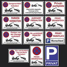 * Parkplatz Schilder Parkverbot Hinweis Schild Parkverbotsschild Parken verboten