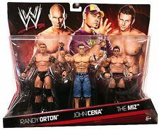 Official Mattel WWE Basic Series Randy Orton, John Cena & The Miz Figure