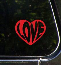 "CAR - LOVE Heart (Text) - Vinyl Car Decal Sticker YYDCo. (4""w x 3.5""h) (COLORS)"