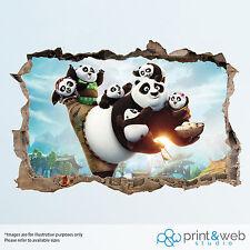Kung Fu Panda Wall Smash Decal Sticker Bedroom Vinyl Kids Mural Art
