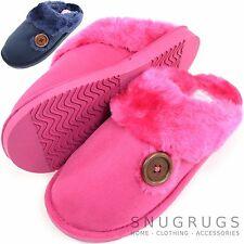 FEMMES / femmes mules/ Pantoufles/ Chaussures d'intérieur avec bouton modèle