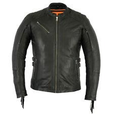 Women's Stylish Bike Apparel Motorcycle Jacket with Fringe Daniel Smart DS880