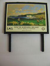 LMS Golf In Northern Ireland - Model Railway Billboard - N & OO Gauge