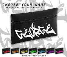 Unique All Name Personalised Graffiti Black Retro Cool Pencil Case School Gift