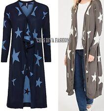 BONPRIX RAINBOW Star Print Long Reversible Open Front Cardigan Size UK8/10-28/30