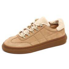 E4576 sneaker donna beige HOGAN H340 scarpe ecopelo shoe woman