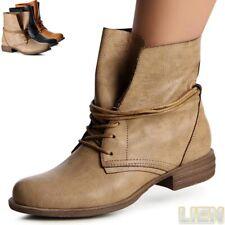 Chaussures Femme Travailleur Bottes Bottines À Lacets À