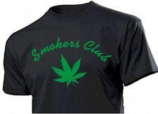 Fun T-SHIRT FUMEURS CLUB Avec Chanvre feuille canabis Marihuana plante gr S-XXL