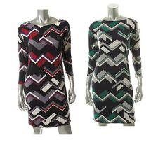 Ralph Lauren Multi Matte Jersey 3/4 Sleeves Dress - New
