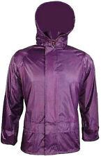 LADIES S-XXL 100% WATERPROOF WINDPROOF JACKET zip up hooded kagool Purple coat