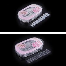 100 pcs False Acrylic Gel French Nail Art Half Tips Salon Nail Manicure Decor