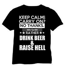 T-Shirt, bedruckt,  Backstreetshirt,  schwarz,  Keep Calm, Party, Hölle