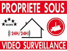 PLAQUE Alu Alarme Vidéo surveillance - 20x30 ou 15x20 - Existe en 3 épaisseurs
