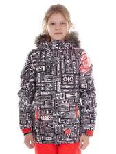 O`Neill Skijacke Snowboardjacke Cloaked schwarz Retro Print Hyperdry