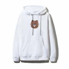 AntiSocial Social Club x Line Friends Brown Bear Hoody White Size S M