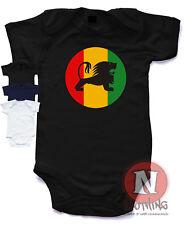 Naughtees Clothing Rasta León Reggae Logo Body Babysuit 100% Cotton Nuevo
