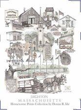 DIGHTON  MA  ART BRISTOL AGGIE HORTON FARM COWS DRAFT HORSES PRINT  DONNA R IDE
