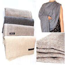 Pure Pashmina Shawl Scarf Men Ladies Cashmere Stole Wrap Soft Handmade Nepal