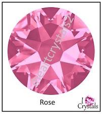 ROSE Pink HOTFIX Swarovski Flatback Crystals 5ss 6ss 8ss 10ss 12ss 16ss 20ss