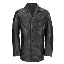 Mens Black Button Down Short Coat (FJ1)