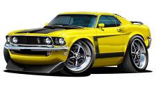 1969 Ford Mustang Boss 302 Muscle Car Art Print NEW