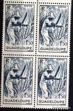 Timbres neufs de GUADELOUPE  Yt 202  BLOC DE 4  1947