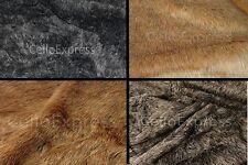 Faux Fake Animal Fur Fabric 20mm or 30mm Pile Teddy Bear & Animal Toy Craft