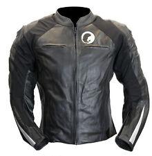 Blouson moto en cuir noir Karno RAPTOR