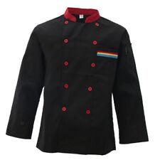 Unisex Chef Jacket Long Sleeve Restaurant Hotel Kichen Chef Uniform Workwear