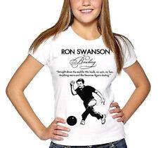 RON SWANSON funny womens t-shirt fan art quote funny shirt ladies bowling tshirt