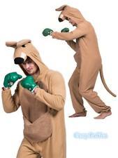 N4 Mens Womens Kangaroo Costume Animal Zoo Party Boxer Adult Mascot Jumpsuit