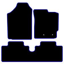 Tailored Black Car Floor Mats Carpets Toyota Yaris 2006-2011 Blue or Red Edging