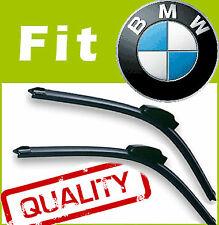 2 X Frontal Aero Stlye Limpiaparabrisas Blades específicas Fit Flat Beam Para Bmw