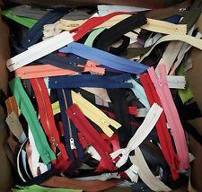 """3"""" - 11""""  ZIPPER GRAB BAG: Lot of 100 Pcs Assorted Sizes & Color Nylon ZIPPERS"""