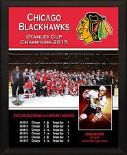 "CHICAGO BLACKHAWKS 2015 Stanley Cup Champions 8x10"" Plaque"