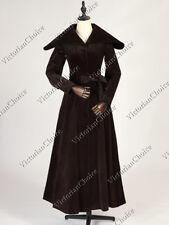 Edwardian 1920's Vintage Velvet Trench Changeling Coat Steampunk Clothing C043