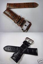 Genuine leather strap.band.bracelet (FITS) Panerai 24mm military black brown