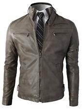 Giacca Giubbotto in Pelle Uomo Men Leather Jacket Veste Blouson Homme Cuir N9d