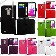 LG G3 D850/ D851/ D852 Etui Cuir Clapet Portefeuille Housse Protection + Stylet