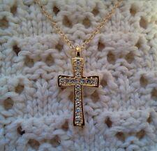 18KGP Czech Crystal Cross Necklace - Made in Czech