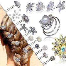 Set Haarnadeln Haarspange Haarspiralen Curlie Hochzeit Perlen Blume Strass Damen