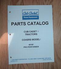CUB CADET 4816F PRO PERFORMER  ILLUSTRATED PARTS LIST CATALOG MANUAL