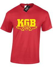 KGB MENS T-SHIRT COOL RUSSIAN SPY RUSSIA CCCP SOVIET UNION POLICE CHE GUEVARA