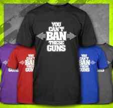 YOU CAN'T BAN THESE GUNS SHOW PRO GUN AR-15 ANTI OBAMA GUN BAN FUNNY T-SHIRT TEE