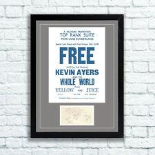 Free Paul Kossoff Concert Poster & Autographs Memorabilia Poster Sunderland 1970