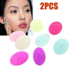 2X Silicone Wash Pad Face Exfoliating Blackhead Facial Cleansing Brush d0y KjGoF