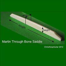 Martin through/long Guitarra Hueso Silla personalizado a su especificación. ps016