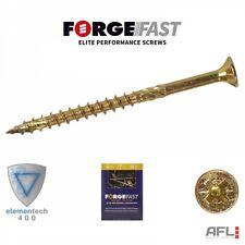 ForgeFix ForgeFast Elite Anti Split Wood Screws Yellow Boxed Pozidrive PZ Pozi