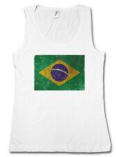 BRAZIL FLAG VINTAGE LOGO TANK TOP SHIRT Brasilien Football Socker Brasil Banner